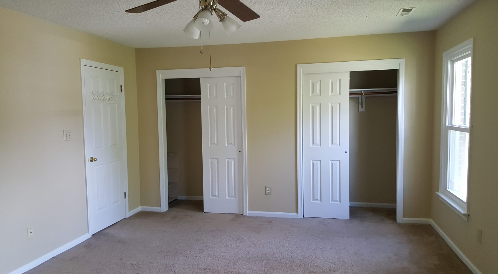 Master Bedroom View Of His And Her Closet